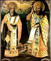 An painting of Cyril and Methodius.