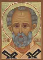 Icon of St. Nicholas, from St. Nicholas Russian Orthodox Church, Dallas, Texas